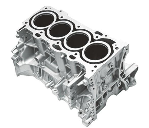 汽车发动机四缸铝压铸缸体